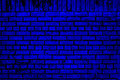 Blue Brick Wall Stock Images - 33707504