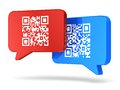 QR Code Communication Concept Royalty Free Stock Photos - 33718708