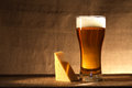 Beer And Cheese Stock Image - 33721161