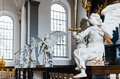 Four Angels Statues In Church Stock Photo - 33729880