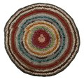 Traditional Russian Round Knit Mat Handmade. Royalty Free Stock Photo - 33730805