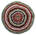 Traditional Russian Round Knit Mat Handmade. Royalty Free Stock Image - 33731616
