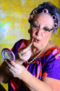 Granny Getting Pretty Royalty Free Stock Photography - 33732547