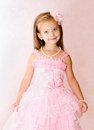 Portrait Of Cute Smiling Little Girl In Princess Dress Stock Images - 33738894