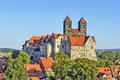 The Castle And Church, Quedlinburg, Germany Royalty Free Stock Photography - 33745227
