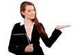Close-up Of A Young Businesswoman Gesturing Royalty Free Stock Image - 33751046