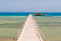 Pier On The Beach Of Red Sea Royalty Free Stock Photography - 33761537
