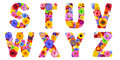 Floral Alphabet Isolated On White - Letters S, T, U, V, W, X, Y, Z Stock Photo - 33766080