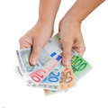 Hands Giving Euro Money Royalty Free Stock Images - 33771229
