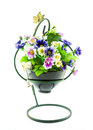 Decorative The Artificial Flowers In Pot Stock Images - 33772234