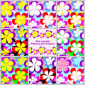 Abstract Seamless Pattern With Flowers -  Set Stock Image - 33778071