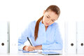 Efficient Businesswoman Working At Her Desk Stock Photo - 33780230