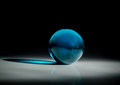 Bluel Glass Ball Stock Images - 33784034