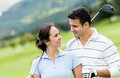 Couple Playing Golf Stock Photo - 33788770