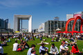 Lunch Break, La Defense, Paris, France. Stock Images - 33788904