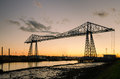 Middlesbrough Transporter Bridge At Dusk Stock Photography - 33789272