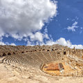 Ancient Amphitheatre In Side Turkey Stock Photos - 33791333
