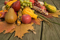Cornucopia With Fall Harvest Royalty Free Stock Photography - 3387917