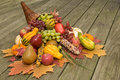Cornucopia With Fall Harvest Royalty Free Stock Images - 3387969