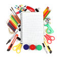 School And Office Supplies Isolated On White Background Royalty Free Stock Image - 33815356