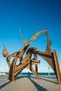 Statue At La Barceloneta Beach District, On March 15, 2013 In Barcelona, Spain Royalty Free Stock Photo - 33818095