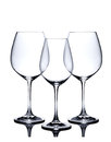 Cocktail Glass Set. Empty Red And White Wine Glasses On White Stock Photo - 33831310
