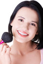 Attractive Woman Doing Make-up On Face. Stock Photo - 33834010