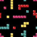Seamless Pattern With Tetris Elements Royalty Free Stock Image - 33836766
