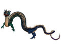 Blue Ornamental Dragon Royalty Free Stock Images - 33843279