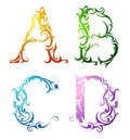 Decorative Letter Font Type Royalty Free Stock Photos - 33844528