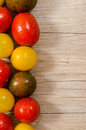 Wet Tomatoes With Text Space On Wood Stock Photos - 33849253