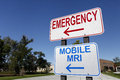 Emergency And Mobile MRI Signs Stock Photos - 33860833