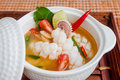 Squid Spicy Lemongrass Soup Royalty Free Stock Image - 33874636
