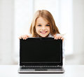 Girl With Laptop Pc At School Royalty Free Stock Photography - 33876007