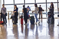 Queue In The Departure Lounge Of Madrid S Airport Brajas Royalty Free Stock Images - 33899159