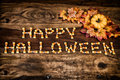 Candy Corn Happy Halloween With Decor Royalty Free Stock Photo - 33919205