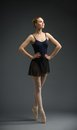 Full-length Portrait Of Dancing Ballerina With Hands On Hips Stock Images - 33919414