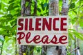 Silence Please Sign Royalty Free Stock Photography - 33919767