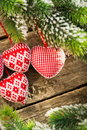 Christmas Tree Decorations Hanging On Branch Stock Images - 33949704