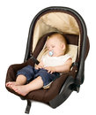 Boy In Car Seat, Safety Concept Stock Photography - 33956762