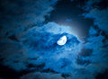 Moon And Clouds Royalty Free Stock Photos - 33959558