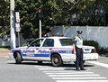 Suffolk County Police Department Officer Providing Security During Parade In Huntington Stock Photography - 33982782