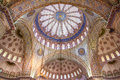 Ornamental Interior Of The Blue Mosque Stock Images - 33986394
