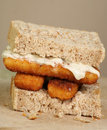 Fish Finger Sandwich Stock Photos - 33986913