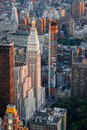 Aerial Urban View Of Midtown East, Manhattan, New  Stock Images - 33990454