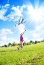 Boy Play With Kite Royalty Free Stock Photo - 33995985