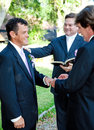 Gay Marriage Ceremony - Rings Royalty Free Stock Photography - 33996517
