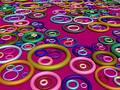 3D-Lots Of Rings On Crimson Royalty Free Stock Photos - 345098