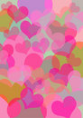 Colored Hearts Royalty Free Stock Image - 3406026