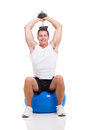 Man Exercising Dumbbell Stock Images - 34019034